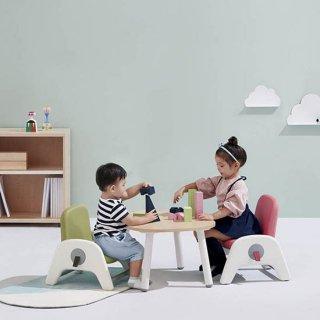 atti(아띠) 유아 책상+의자 세트 라이트우드:그린